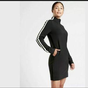 ATHLETA Crosstown Track Dress Black NWT